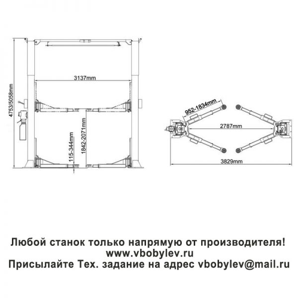 Peak 212CH двухстоечный подъемник. Любой станок только напрямую от производителя! www.vbobylev.ru Присылайте Тех. задание на адрес: vbobylev@mail.ru