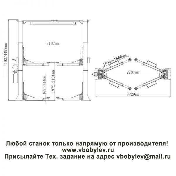 Peak 215C двухстоечный подъемник. Любой станок только напрямую от производителя! www.vbobylev.ru Присылайте Тех. задание на адрес: vbobylev@mail.ru