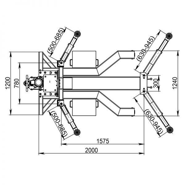 QJY-2.5-H Автомобильный одностоечный подъемник