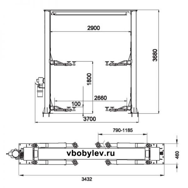 QJY3.0-D-1 двустоечный подъемник. Любой станок только напрямую от производителя! www.vbobylev.ru Присылайте Тех. задание на адрес: vbobylev@mail.ru