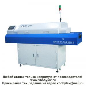 ZBRF-630 настольная конвейерная конвекционная печь, 6 зон нагрева. Любой станок только напрямую от производителя! www.vbobylev.ru Присылайте Тех. задание на адрес: vbobylev@mail.r