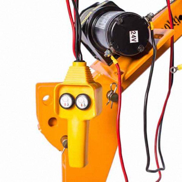 Электрический подъемный мини кран 12,24,220 Вольт, с макс. грузоподъёмностью 500 Кг